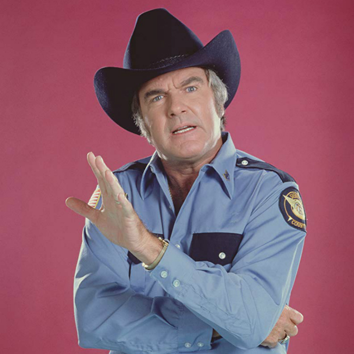 james best as sheriff rosco coltrane